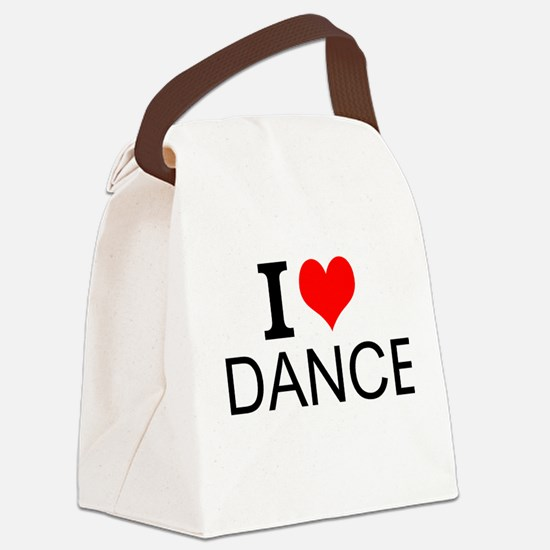 I Love Dance Canvas Lunch Bag