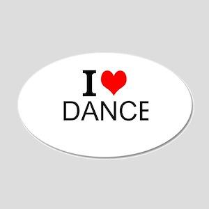 I Love Dance Wall Decal
