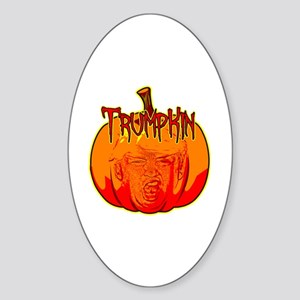Donald Trump Trumpkin Pumpkin Sticker (Oval)