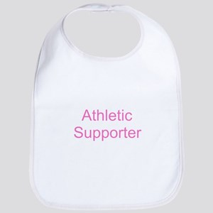 Athletic Supporter - Pink Baby Bib