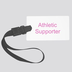 Athletic Supporter - Pink Large Luggage Tag