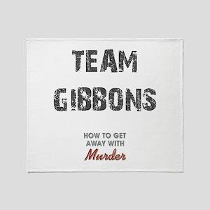 TEAM GIBBONS Throw Blanket