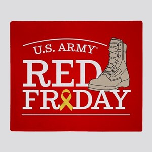Army RED Friday Boot Throw Blanket