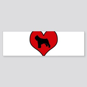 Bouvier Des Flandres heart Bumper Sticker