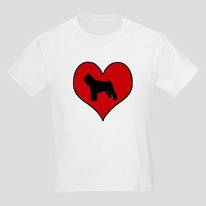 Bouvier Des Flandres heart Kids Light T-Shirt
