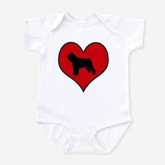 Bouvier Des Flandres heart Infant Bodysuit