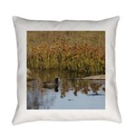 Coot on Pond Everyday Pillow