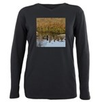 Coot on Pond Plus Size Long Sleeve Tee