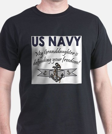 Funny Military granddaughter T-Shirt