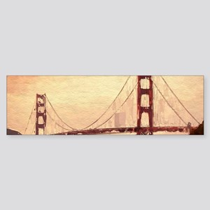Golden Gate Bridge Inspiration Bumper Sticker