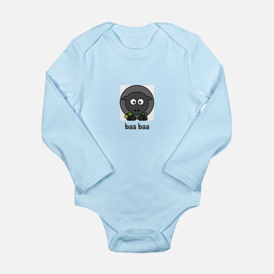 Cute Baa baa black sheep Long Sleeve Infant Bodysuit