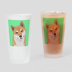 Shiba Inu Drinking Glass