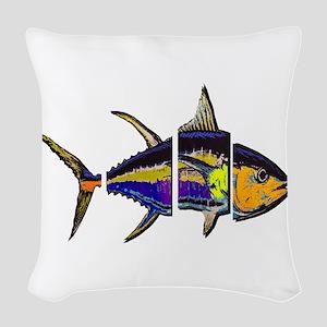 FRAGMENTED VIEW Woven Throw Pillow