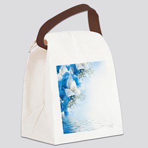 Beautiful Floral Canvas Lunch Bag