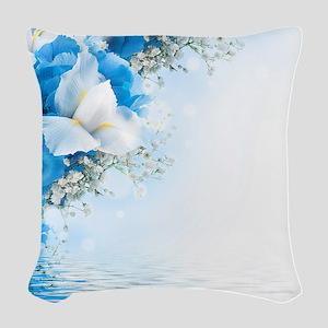 Beautiful Floral Woven Throw Pillow