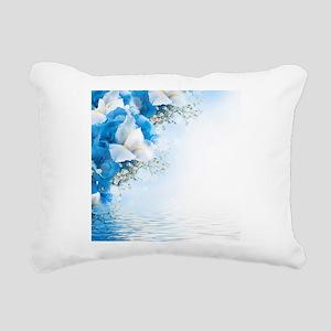 Beautiful Floral Rectangular Canvas Pillow