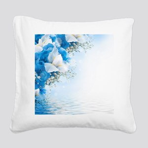 Beautiful Floral Square Canvas Pillow