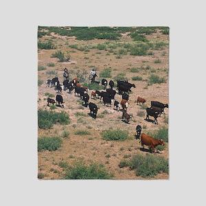 Cattle Roundup Throw Blanket