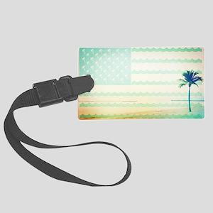 Tropical Beach Large Luggage Tag