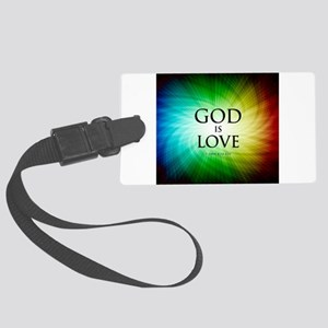 Love Is God Large Luggage Tag