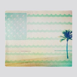 Tropical Beach Throw Blanket