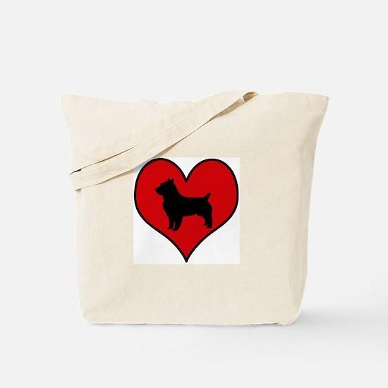 Australian Terrier heart Tote Bag