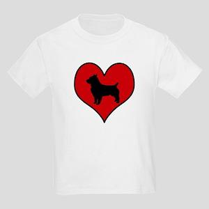 Australian Terrier heart Kids Light T-Shirt