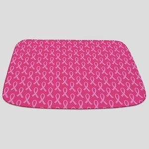 Pink Ribbon Pattern Bathmat