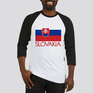 Slovakia Flag Baseball Jersey