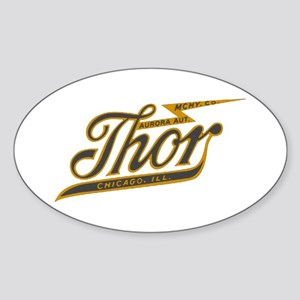 Thor Motorcycle Chicago Retro Sticker