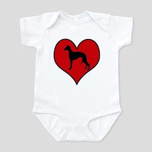 Whippet heart Infant Bodysuit