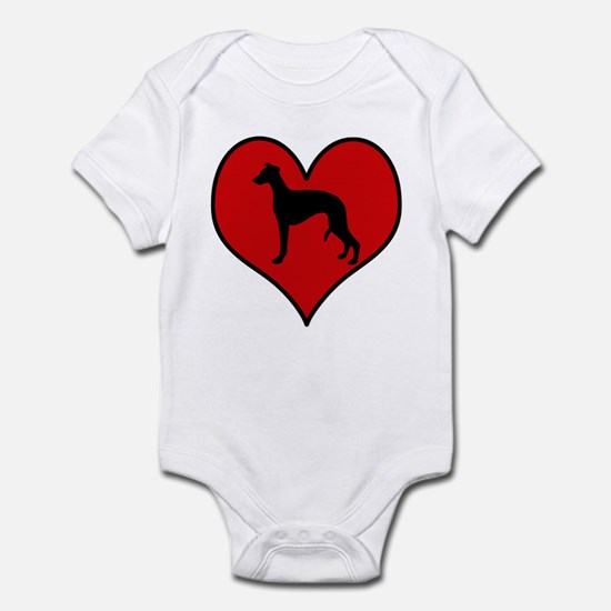 Whippet heart Infant Bodysuit