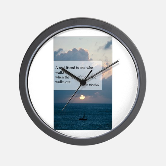 What a Real Friend Is Wall Clock