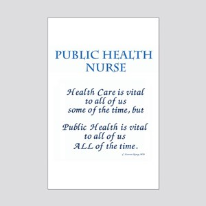 Public Health Nurse Mini Poster Print