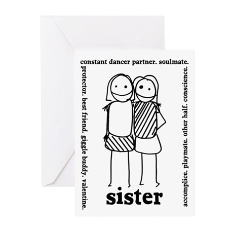 Sisters (2) Greeting Cards (Pk of 10)