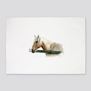 Horse Photography 5'x7'Area Rug