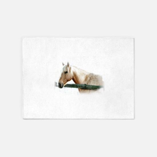 Horse Photography 5'x7'Area Rug