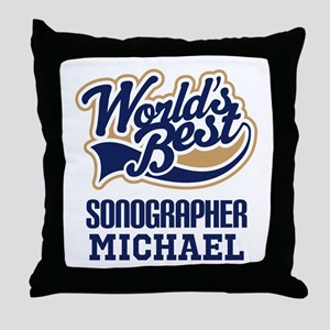 Sonographer Personalized Gift Throw Pillow