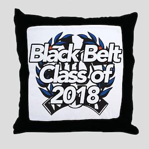 2018 Black Belt Throw Pillow