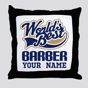 Barber Personalized Gift Throw Pillow