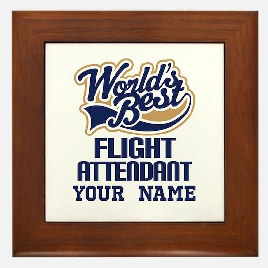 Flight Attendant Personalized Gift Framed Tile