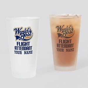 Flight Attendant Personalized Gift Drinking Glass