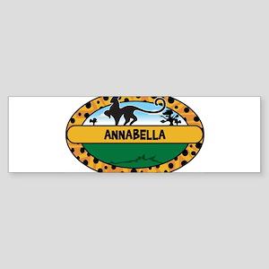 ANNABELLA - safari Bumper Sticker