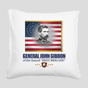 Gibbon (C2) Square Canvas Pillow