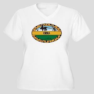 CIERA - safari Women's Plus Size V-Neck T-Shirt
