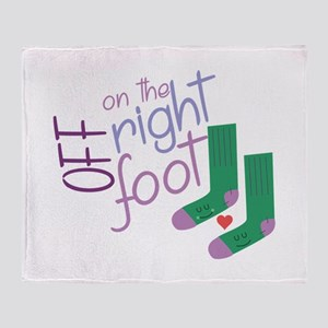 The Right Foot Throw Blanket