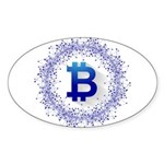 BitCoin Sticker (Oval 10 pk)
