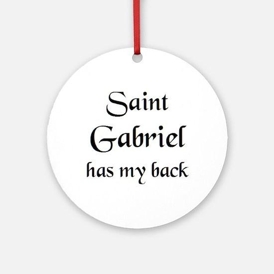 saint gabriel Round Ornament