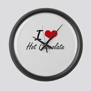 I love Hot Chocolate Large Wall Clock