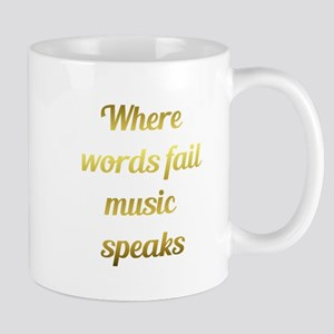 When words fail Music Speaks Inspirational Quote M